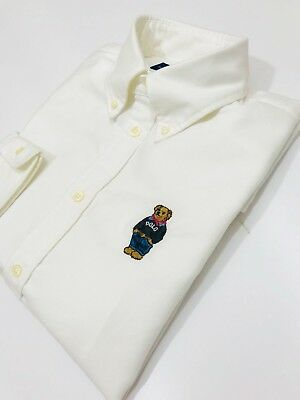 Ralph Ladies Polo Oxford Lauren £129 Slim Fit Shirt Bear Rrp OPkZ0N8nwX