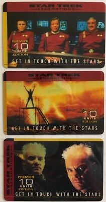 Star Trek - 10u - Collectible Phone Cards- Lot Of 3 - Kirk - Scotty