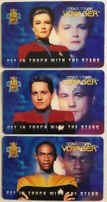 Star Trek - Voyager - 10u - Collectible Phone Cards- Lot Of 3