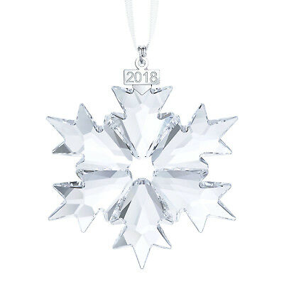 Swarovski Crystal 2018 Annual Christmas Ornament 5301575.new In Box