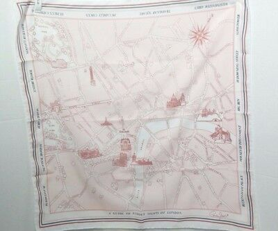 """Cornelia James Scarf Made Italy A Guide to the Famous Sights of London Map 26"""""""