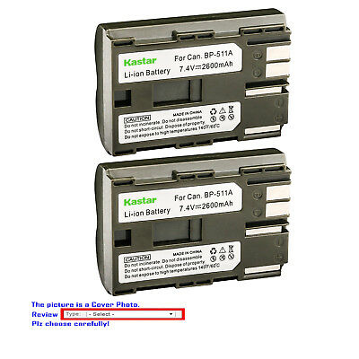 Kastar Replacement Battery for Canon BP-511 CB-5L & EOS D60 EOS Kiss Digital