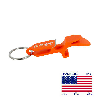 SHOTGUN KEY CHAIN | Beer Bong for Cans | MADE IN USA (Orange)