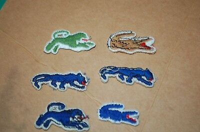 8 Vintage LACOSTE Le Tigre SALESMAN SAMPLE EMBROIDERY Patch Lacoste France 1980s