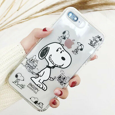 TPU Cartoon Cute Snoopy Silicone Phone Case Cover Back For iPhone X 6/S 7 8 Plus
