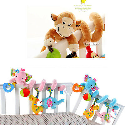Cute Baby Toy Rattle Stroller Car Infant Bed Hanging Educational Plush Xmas Toys