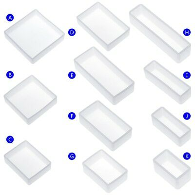 Silicone Mold DIY Square Rectangle Exopy Resin Mirror Crafts Jewelry Decoration