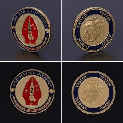 Commemorative Coin Marine Corps 2nd Marine Division Collection Art Gift Souvenir
