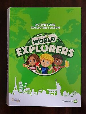 Woolworths World Explorers - collectors album + cards