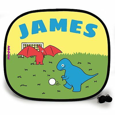 DINOSAUR BAND ANIMAL Personalised Car Sunshade Custom Vehicle Window Kids Baby