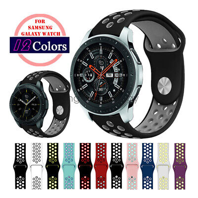 Replacement Silicone Sport Watch Band Strap For Samsung Galaxy Watch 42mm 46mm