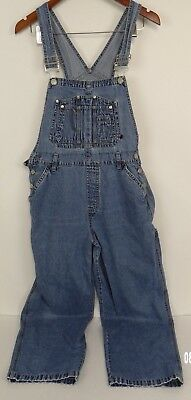 No Boundaries Junior Large Women's 30'' x 28'' Bib Overalls Missing Top Button
