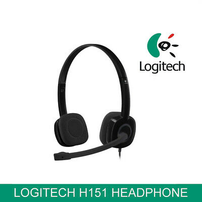 Logitech H151 Stereo Headset MIC In-Line Control Noise Cancelling Gaming Headset