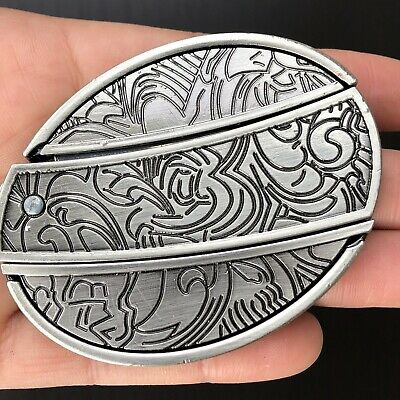 NEW Star 3d Belt Buckle REMOVABLE Western Cowboy SILVER HIGH QUALITY