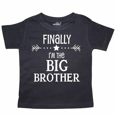Inktastic Finally Im The Big Brother Toddler T-Shirt Siblings Little Sister New