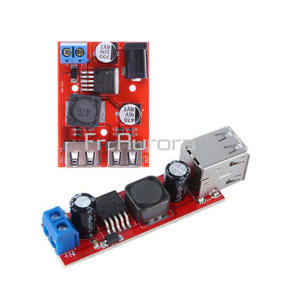 DC 9V/12V/24V/36V to 5V 3A Dual USB Charger Step Down Buck Power Supply Module