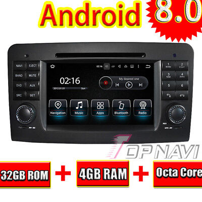 Android 8.0 Car DVD Player For Benz ML W164 /GL X164 2005-2012 GPS Multimedia