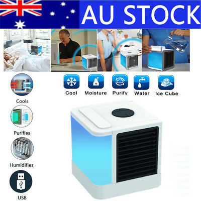 Small Fan Cooling USB Mini Air Conditioner Portable Cooler Desktops Humidifier
