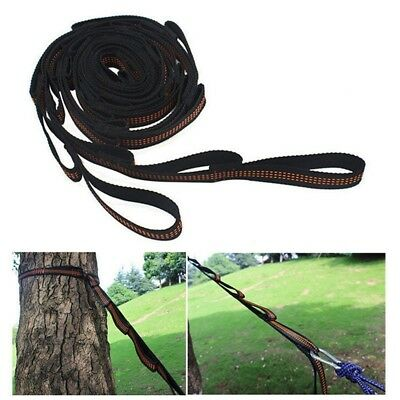 2pcs Adjustable Hanging Hammock Tree Strap Rope Heavy Duty Extension Belt