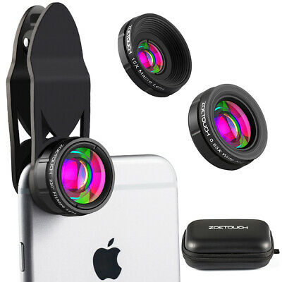 Camera Lens 0.45X Super Wide Angle Lens HD Camera Lens Kit for iPhone Android