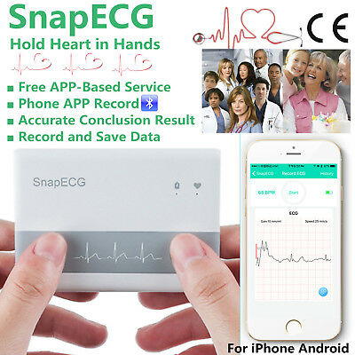 Portable ECG EKG Electrocardiogram Machine Heart Monitor Heal Detector Sensor UK