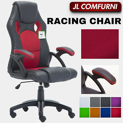 GAMING OFFICE CHAIR EXECUTIVE COMPUTER DESK SWIVEL PU LEATHER RACING SPORT JL Co