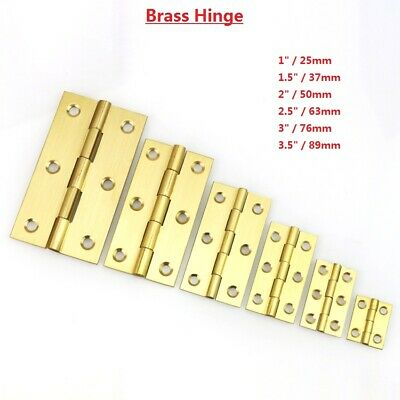 Quality Solid Brass Butt Hinges Door Cabinet Cupboard Varied Size Hinges