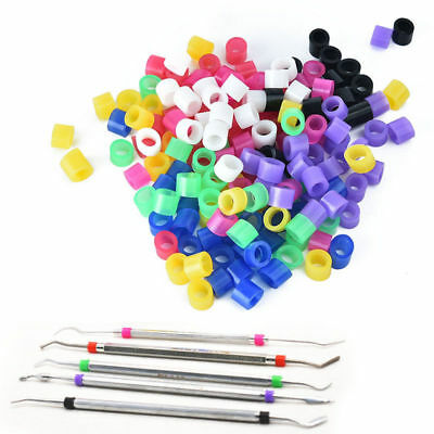 100 Pcs/Box Small Dental Orthodontic Silicone Instrument Color Code Rings Bands