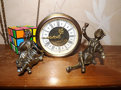 West Germany Clock Movement And Two Figures