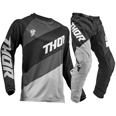 NEW Thor MX 2019 Sector Shear Black Grey Jersey Pants CHEAP Motocross Gear Set