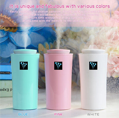 USB LED Ultrasonic Aroma Air Humidifier Oil Diffuser Aromatherapy Purifier AU BM