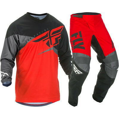 NEW Fly Racing 2019 Youth MX F-16 Red Black Jersey Pants Kids Motocross Gear Set