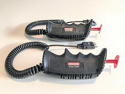 Carrera Evolution 20709 1/24 Scale 2 x Slot Car Hand Controllers Brand New