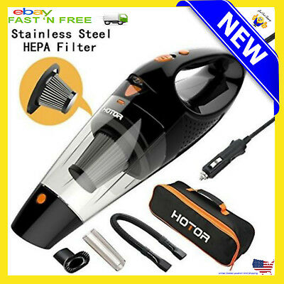 Car Vacuum Cleaner Duster Handheld Vac Wet And Dry Suction Hand Portable 12V