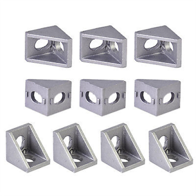 10x Aluminum Right Angle Bracket 90 Degre Double Side L Shape Corner Joint Brace