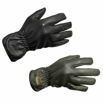 ARMR Moto C425 Fleeced Leather Cruiser Motorcycle Scooter Gloves Black Brown