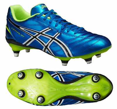 Asics Lethal ST Rugby Boots changeable studs Electric Blue Snr UK Sz 6-14