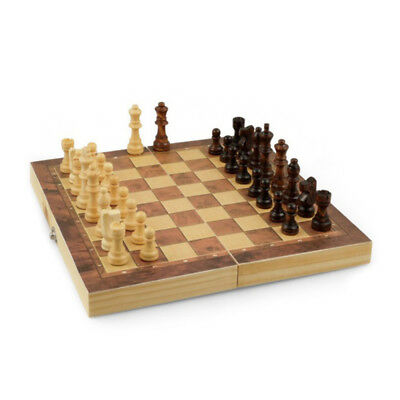 Folding Wooden Chess Board Game Set