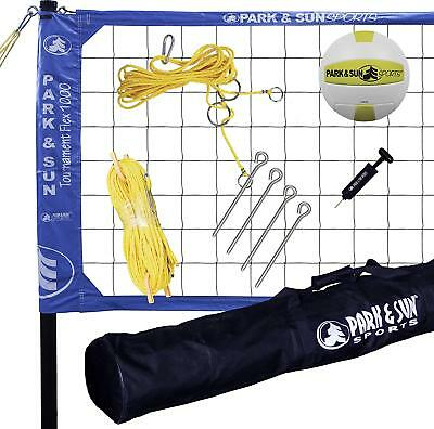 Park & Sun Sports Tournament Flex 1000: Portable Outdoor Volleyball Net System,
