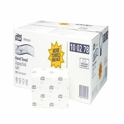 Tork White Extra Soft Single Fold Hand Towel 200 Sheets (Pack of 15)  [SCA44725]