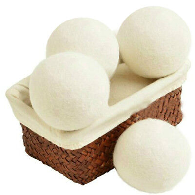 6X Living Handy Laundry Wool Felt Dryer Balls Saves Drying Time Natural Reusable