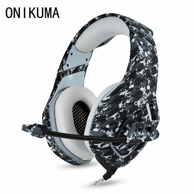 ONIKUMA K1 3.5mm Mic Stereo Bass Gaming Headset Surround For PC PS4 Pro Xbox One