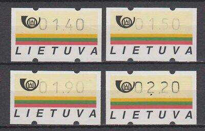 Lithuania - 1995-96 Vending Machine Stamps (MNH)
