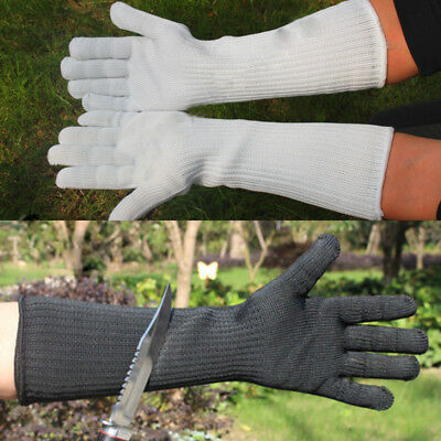 Stainless Steel Wire Safety Long Sleeve Gloves Metal Mesh Anti-cutting  Protect