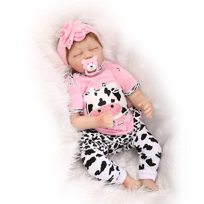 NEW Reborn Baby Doll Soft Simulation Silicone Vinyl 22inch 55cm Magnetic Mouth