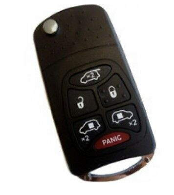6 Buttons Switchblade Key Remote Case For Chrysler Town & Country Dodge Caravan