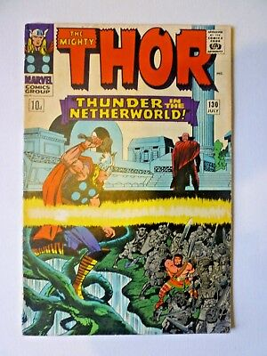 The Mighty Thor 130 1966 Marvel Comics Hercules Pluto Silver Age
