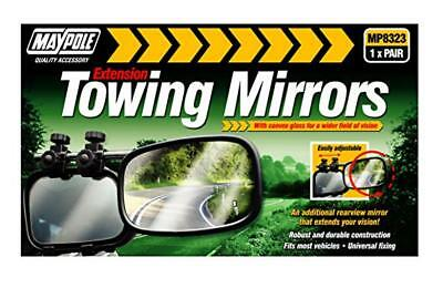 MAYPOLE Extension Towing Mirrors with Convex Glass, 1x Pair (MP8323)