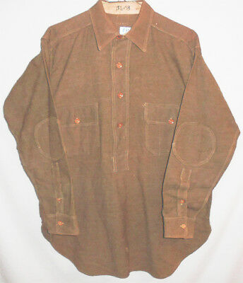 -RARE- WWI -US Army- Vintage Men's Wool Doughboy Uniform Pullover Shirt