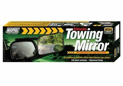 MAYPOLE Extension Towing Mirror with Convex Glass, Single Mirror (MP8322)